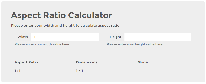Video aspect ratio calculator inch calculator.